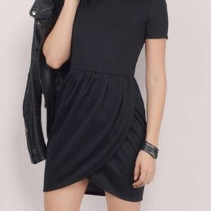 TOBI IN SEASON TULIP DRESS S BLACK